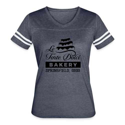 Le Torte Dolci Logo Solid Black Ink Version - Women's Vintage Sport T-Shirt