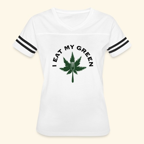 I Eat My Green - Women's Vintage Sports T-Shirt