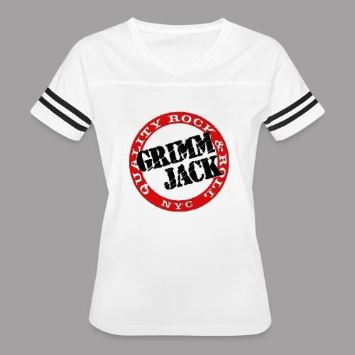 GJ BlackRed - Women's Vintage Sport T-Shirt
