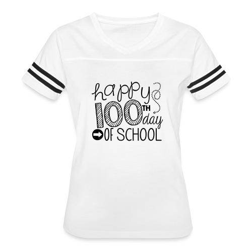 Happy 100th Day of School Arrows Teacher T-shirt - Women's Vintage Sport T-Shirt