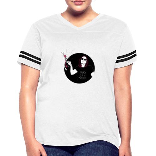 Fairy Gaymother with Wand - Women's Vintage Sports T-Shirt