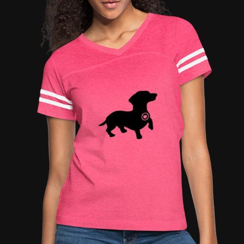 Dachshund love silhouette black - Women's Vintage Sport T-Shirt