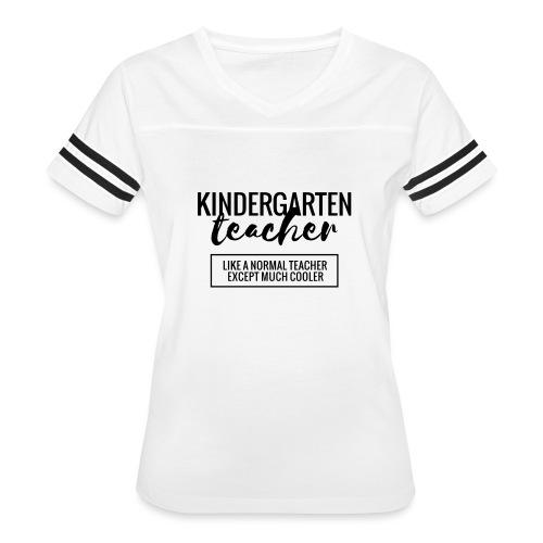 Cool Kindergarten Teacher Funny Teacher T-Shirt - Women's Vintage Sport T-Shirt