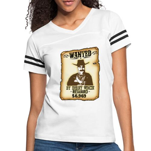Cowboy Ox-Mad Wanted Poster! - Women's Vintage Sport T-Shirt