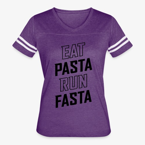 Eat Pasta Run Fasta v2 - Women's Vintage Sport T-Shirt