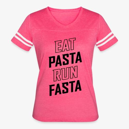 Eat Pasta Run Fasta v2 - Women's Vintage Sport T-Shirt