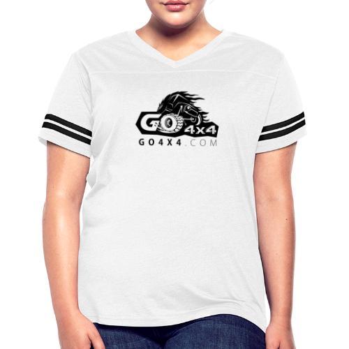 go bw white text black - Women's Vintage Sport T-Shirt