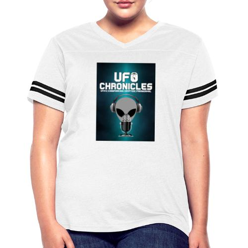 UFO Chronicles Logo with Grey Mike - Women's Vintage Sport T-Shirt
