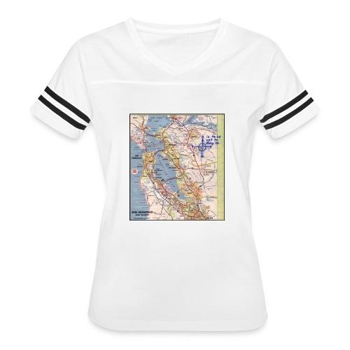 Phillips 66 Zodiac Killer Map June 26 - Women's Vintage Sport T-Shirt