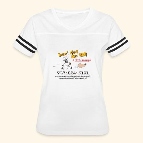 Jones Good Ass BBQ and Foot Massage logo - Women's Vintage Sport T-Shirt