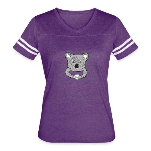 Print With Koala Lying In A Bed - Women's Vintage Sport T-Shirt