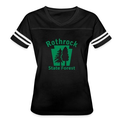 Rothrock State Forest Keystone (w/trees) - Women's Vintage Sport T-Shirt