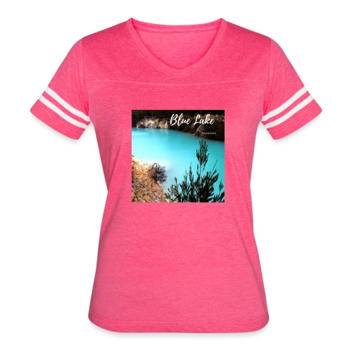 Tasmania Blue Lake - Women's Vintage Sport T-Shirt