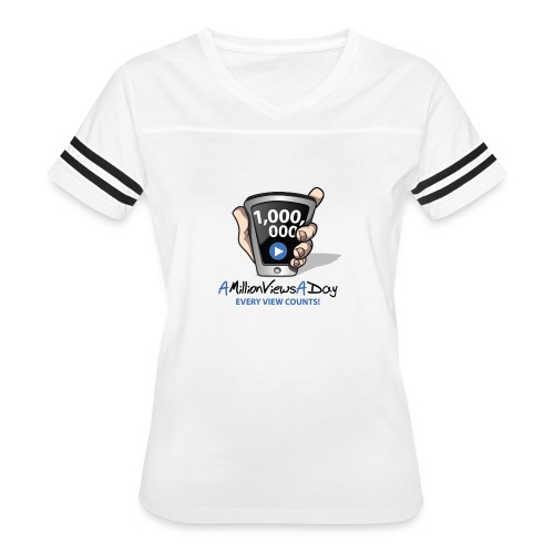AMillionViewsADay - every view counts! - Women's Vintage Sport T-Shirt