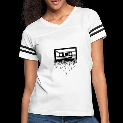 Music Notes Cassette Tape - Women's Vintage Sport T-Shirt