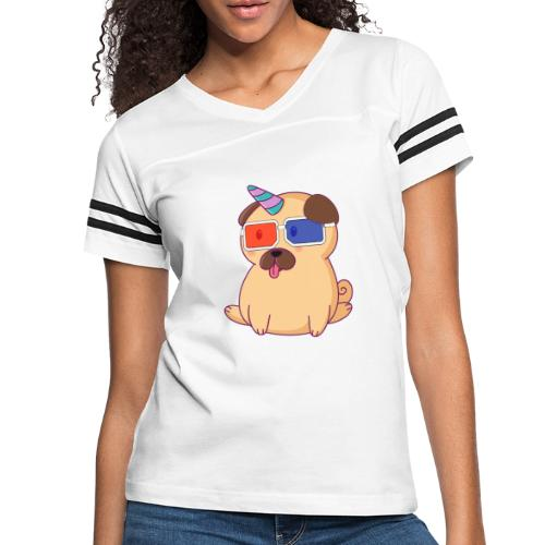 Dog with 3D glasses doing Vision Therapy! - Women's Vintage Sport T-Shirt