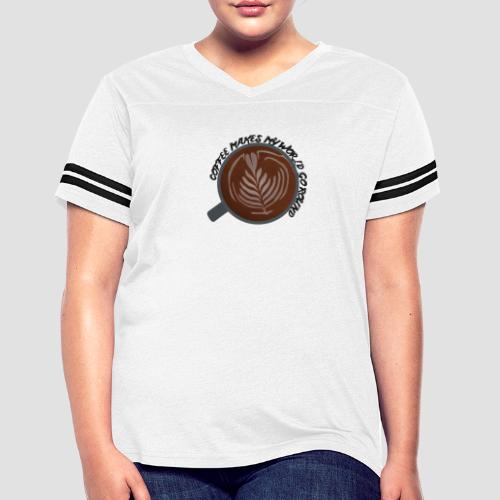 Coffee Is My World - Women's Vintage Sport T-Shirt