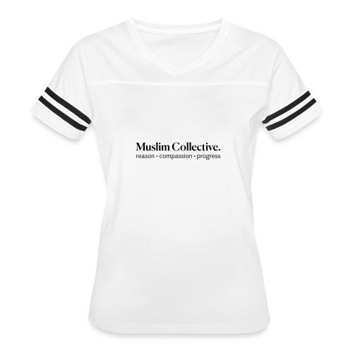 Muslim Collective Logo + tagline - Women's Vintage Sports T-Shirt