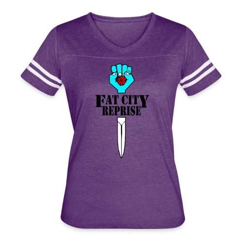 Fat City Fist - Women's Vintage Sport T-Shirt