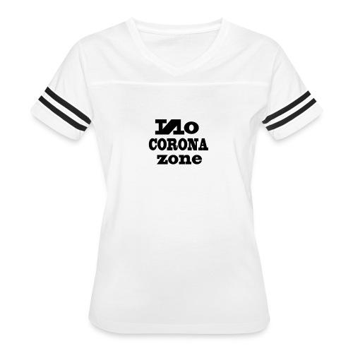 A244939 No Corona Zone 01 - Women's Vintage Sports T-Shirt