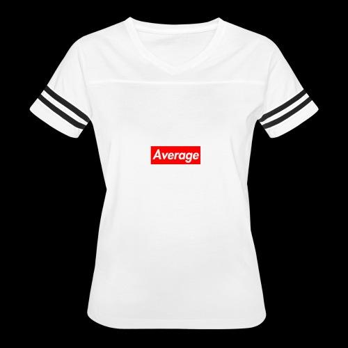 Average Supreme Logo Mockup - Women's Vintage Sport T-Shirt