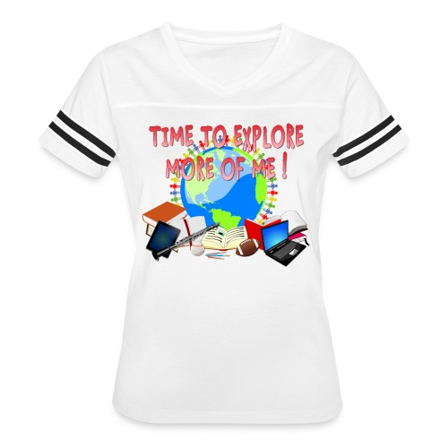 Time to Explore More of Me ! BACK TO SCHOOL - Women's Vintage Sport T-Shirt