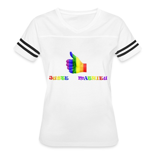 Logo LGBT + Name of the company - Women's Vintage Sport T-Shirt