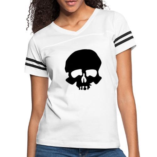 Black Skull - Women's Vintage Sport T-Shirt
