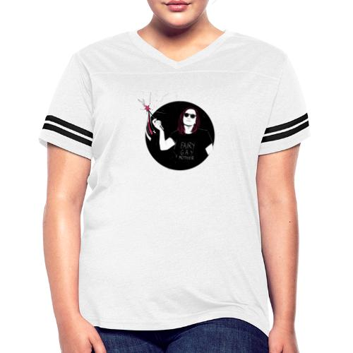Fairy Gaymother with Wand Back and Front - Women's Vintage Sports T-Shirt