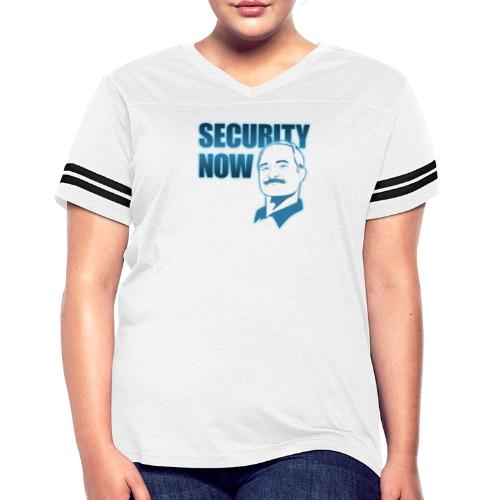 Security Now with Steve Gibson on white - Women's Vintage Sport T-Shirt