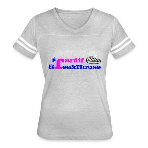 Tardif SteakHouse Bleu Rose - T-shirt sport rétro pour femmes