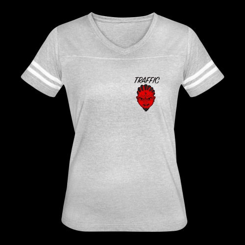 Traffic Devil Face - Women's Vintage Sport T-Shirt