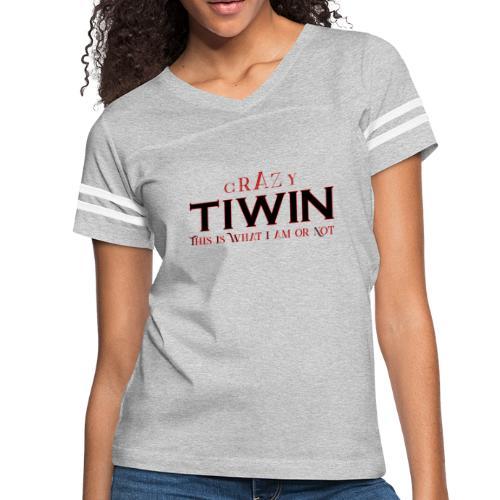 crazy TIWIN red - Women's Vintage Sport T-Shirt