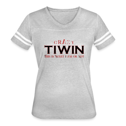 crazy TIWIN red - Women's Vintage Sport T-Shirt