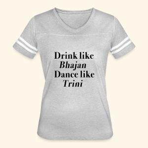 Like Bhajan, Like Trini - Women's Vintage Sport T-Shirt
