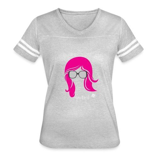Geo Nerd (her) - Women's Vintage Sport T-Shirt