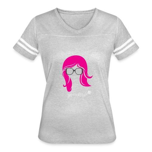 Geo Rockstar (her) - Women's Vintage Sport T-Shirt