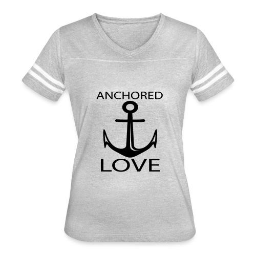 TSHIRTFINDERS -T-SHIRT ANCHOR LOVE - Women's Vintage Sport T-Shirt