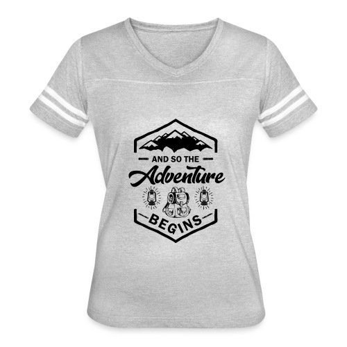 And So The Adventure Begins T shirt Wild Hiking - Women's Vintage Sport T-Shirt