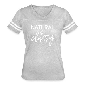 Natural & Classy WHITE - Women's Vintage Sport T-Shirt