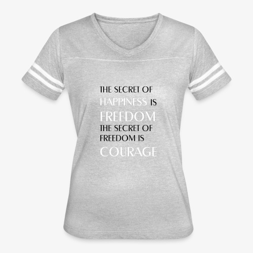 Sparrow Wear - Freedom Quote - Women's Vintage Sport T-Shirt