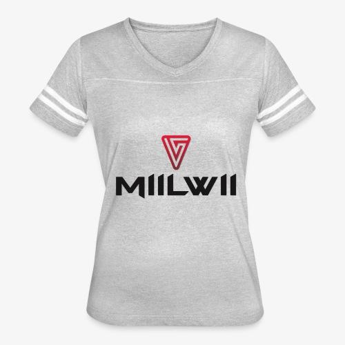 Miilwii logo black - Women's Vintage Sport T-Shirt