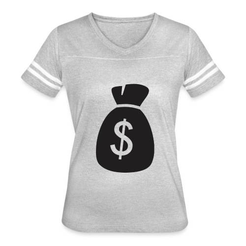Dollar Sign - Women's Vintage Sport T-Shirt