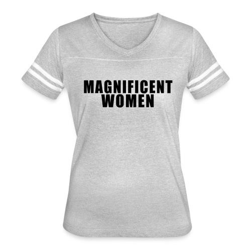 Magnificent Woman - Women's Vintage Sport T-Shirt