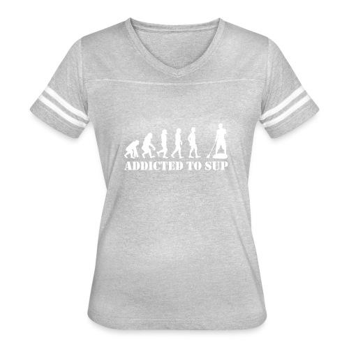 EvolutionAddictedtoSUPWhite - Women's Vintage Sport T-Shirt