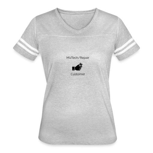MizTech/Repair Customer Logo - Women's Vintage Sport T-Shirt