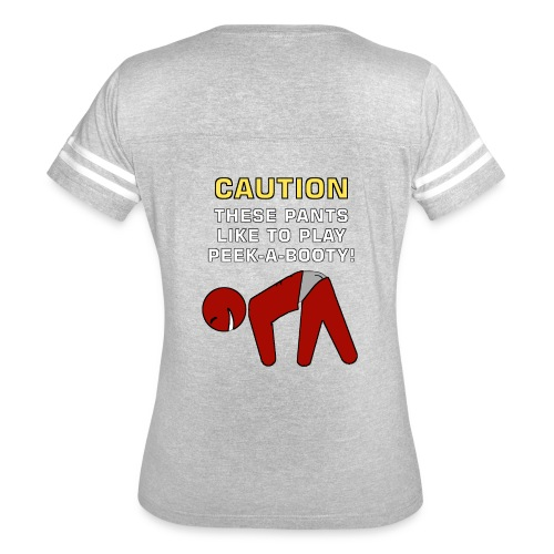 CAUTION PEEK A BOOTY SHIRT - Women's Vintage Sport T-Shirt