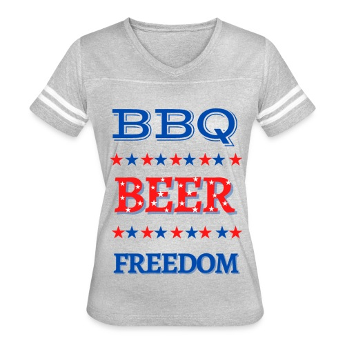 BBQ BEER FREEDOM - Women's Vintage Sport T-Shirt