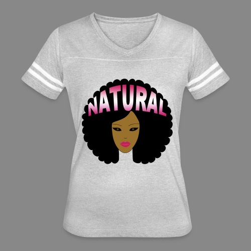 Natural Afro (Pink) - Women's Vintage Sport T-Shirt