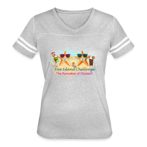 Five Island Challenge - Women's Vintage Sport T-Shirt